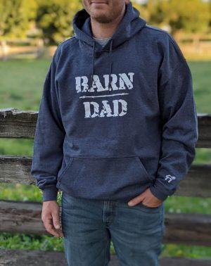 Barn Dad Pullover Hoodie Dark Heather