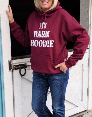 My Barn Hoodie - Maroon