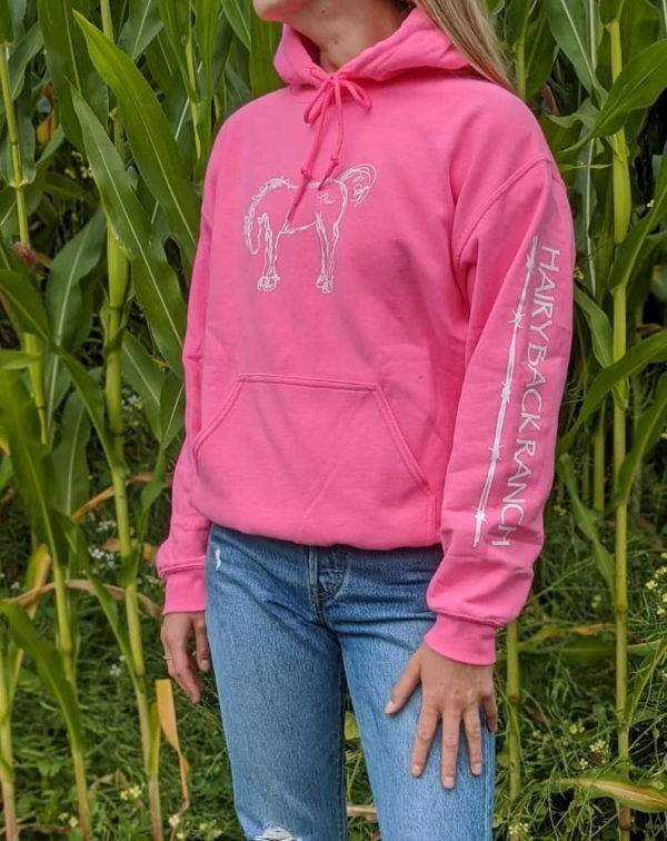 Pullover Hoodie - Safety Pink