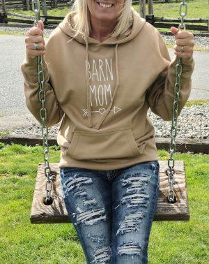 Barn Mom Sandstone Pullover Hoodie