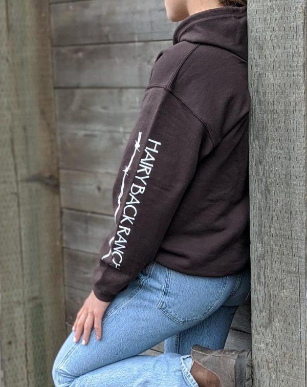 Zip Up Hoodie - Chocolate Brown