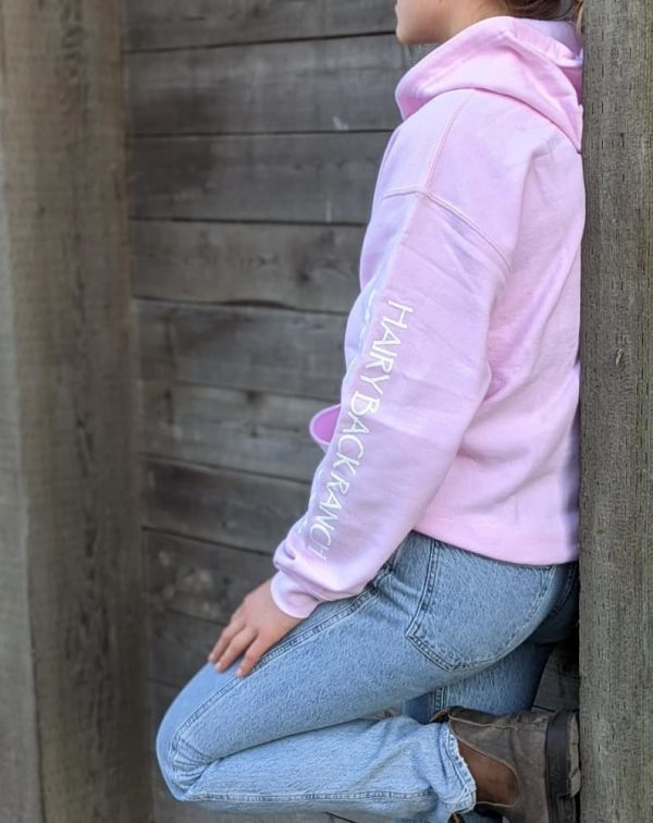 Zip Up Hoodie - Light Pink