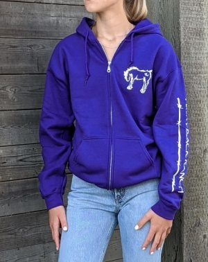 Zip Up Hoodie - Purple