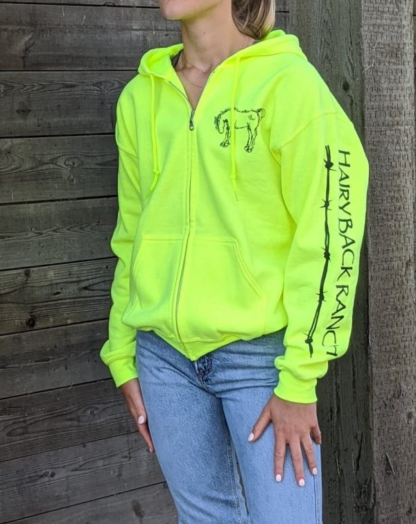 Zip Up Hoodie - Safety Yellow
