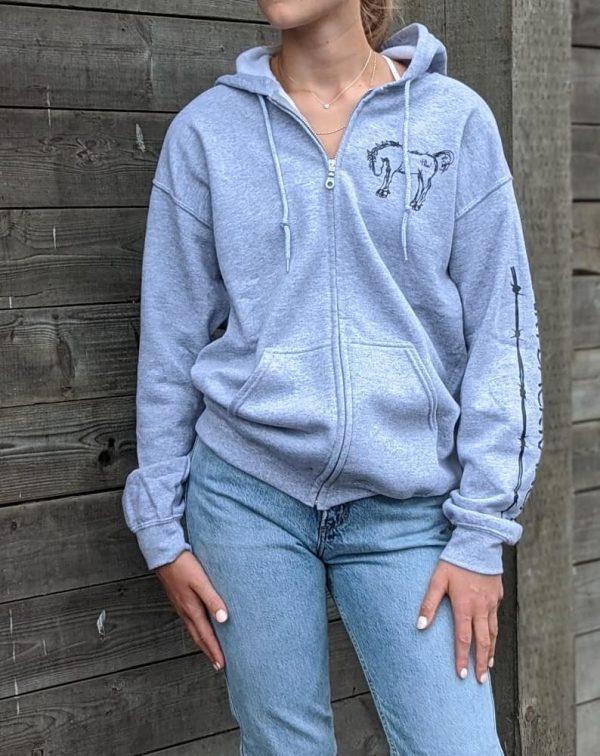 Pullover Zip Hoodie - Sport Grey
