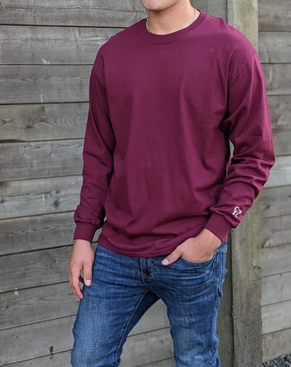 Long Sleeve Tee - Maroon