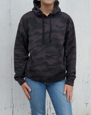 Black Camo Pullover Hoodie