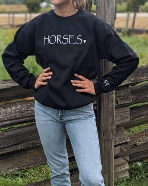 Horses♥ Crewneck - Black