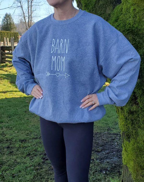 Original Crewneck Barn Mom - Graphite