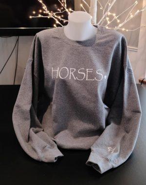 Crewneck Graphite Horses
