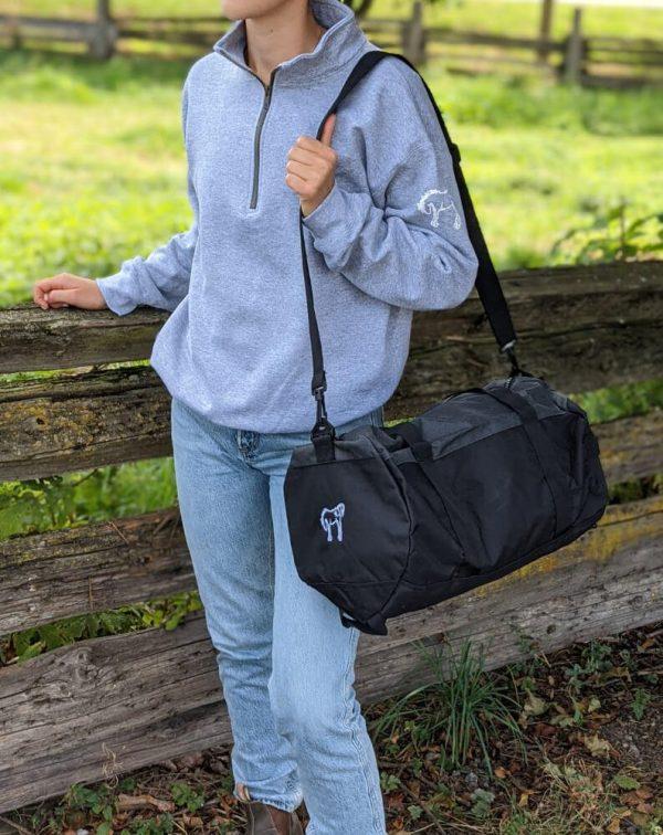 Champion Barrel Duffle Bag – Dark Heather / Black
