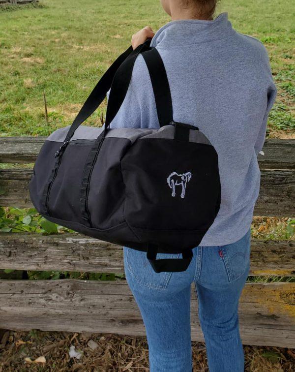 Champion Barrel Duffle Bag – Light Grey / Black