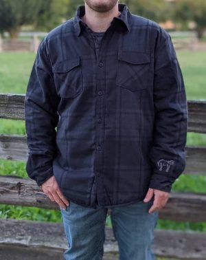 Men's Jacket - Black Plaid