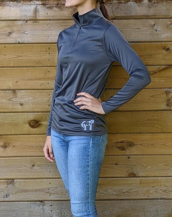 HBR Quarterzip Sport Shirt - Charcoal