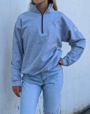 Quarter Zip Sweatshirt - Sport Grey